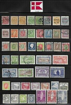 Collection of Old Stamps from Iceland . . . . . . . 6 pages