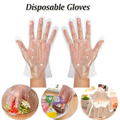 500X Food Preparation Gloves Transparent Oil Resistant Hand Baking For Housework