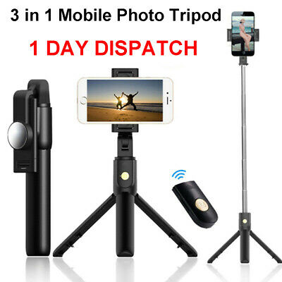 3 in 1 Mobile Phone Camera Tripod Selfie Stick K10 with Bluetooth Remote Control