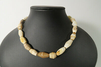 Alte Achatperlen Cambay BZ04 Old Agate Stone Trade Beads Afrozip