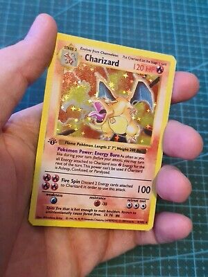 Handmade Proxy Charizard / Glurak in English Base Set Pokemon Card In Holo