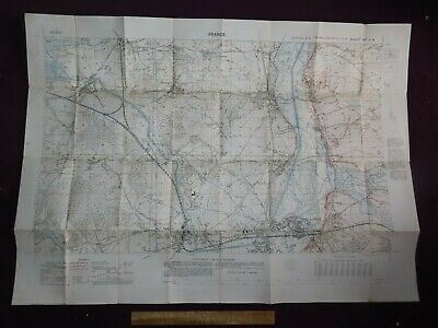 1917 TRENCH MAP of BATTLE OF VENDEUIL WWI ALLIED ANZAC FRANCE 66C