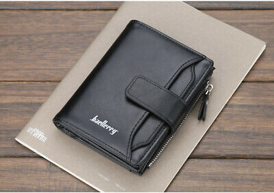 RFID SAFE ID Protection Mens Leather Wallet Designer Contactless Card Blocking