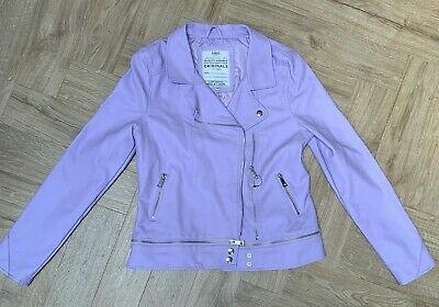 M&S Lilac Kids Leather Look Jacket Ages 13-14 Yrs