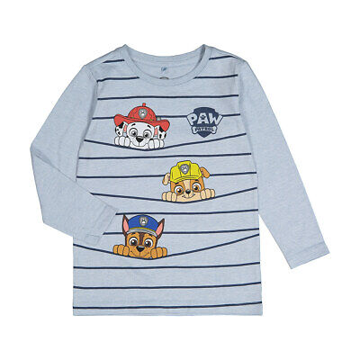 Nickelodeon Paw Patrol Boys Licensed long sleeve tee t shirt top New with Tags
