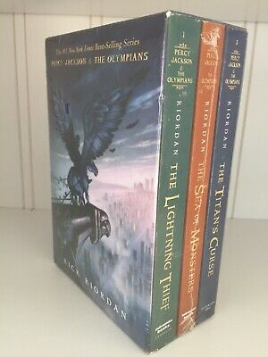 Percy Jackson & the Olympians Books 1 2 3 Boxed Set Sealed PB Rick Riordan