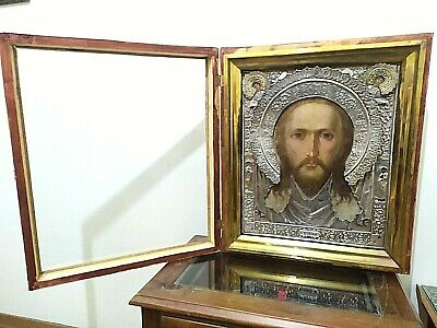 Antique Russian Icon Large Handmade Museum Only One In The World 19 Century