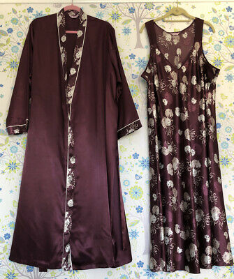 ladies per una size 20 - 22 2 Piece Dressing Gown & Night Gown Womens M&S