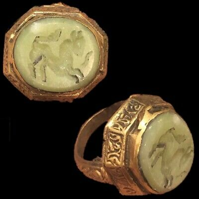 Stunning Top Quality Intaglio Seal Stone Ring With Horse (1)