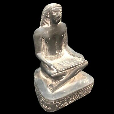 Egyptian Statue With Hieroglyphics, Late Period 664 - 332 Bc (3)