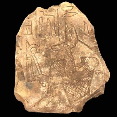Large Ancient Egyptian Plaque  Late Period 664 - 332 Bc (2)