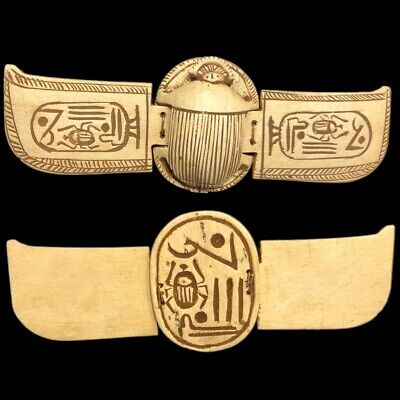 Beautiful Ancient Egyptian Winged Scarab 300 Bc (1)