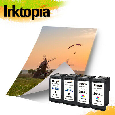 4 Pack PG-245XL & CL-246XL Ink for Canon MG2922 MG2555 TS202 MG3022 IP2820
