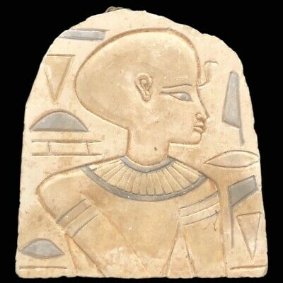 Large Ancient Egyptian Plaque  Late Period 664 - 332 Bc (5)