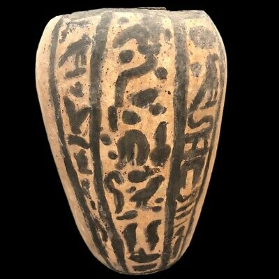 Beautiful Ancient Egyptian Wooden Storage Vessel 300 Bc (1)