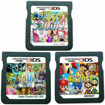 208/482/520 in 1 Video Games Cartridge Cards For DS NDS 2DS 3DS NDSI NDSL FAST