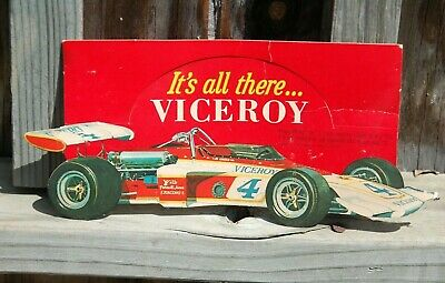 Vintage VICEROY Advertising Sign with AL UNSER INDY CAR - Pernelli Jones Racing