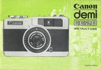 Canon Demi EE28 Instruction Manual