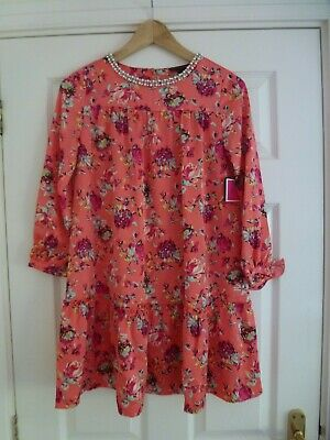 JUICY COUTURE Girls WINTER CORAL LUSH DRESS In Peach Age 14yrs BNWT!