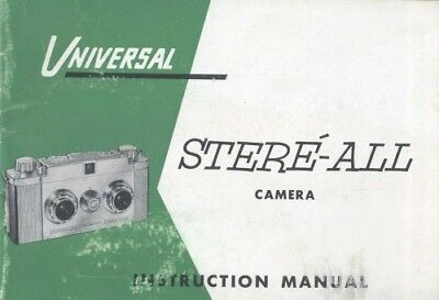 Universal Stere-All Camera Instruction Manual