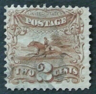 USA 1869 2c Post Horse and Rider #113 F-VF with light Fancy cancel cat. $90