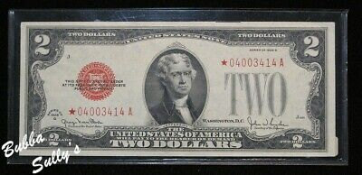 Series of 1928 G $2 United States Note <> Red Seal <> Star Note <> Block *A