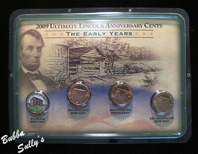 2009 Ultimate Lincoln Anniversary 4-Coin Set <> The Early Years