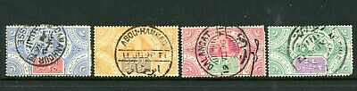 """Egypt BOB Revenue Stamps - 4 Used - Great """"SON"""" Cancellations"""
