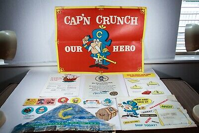 Cap'n Crunch Crew Kit Quaker Cereal 1965 Contents as Pictured Good Condition