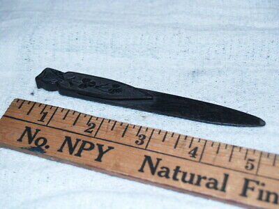 Carved wood book mark and letter opener (C180)
