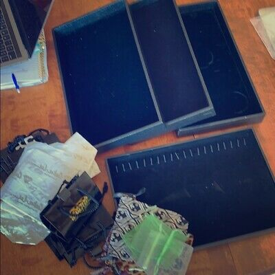 Black velour Jewelry trays with Cookie Lee Gift bags sold all together!