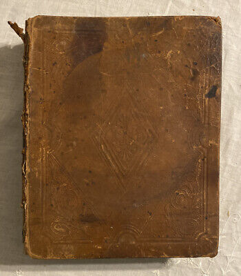Holy Bible Antique Victorian 1842 Weeks Genealogy & Handwritten Mourning Poetry