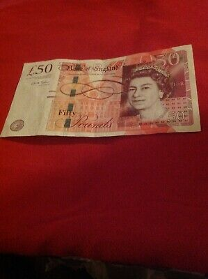 Bank Of England £50 Pound AH26076568 Excellent Circulated Condition Chris Salmon