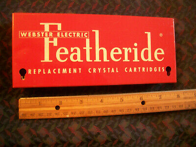 Vintage Empty Tin -  Webster Electric Featheride Replacement Crystal Cartridges