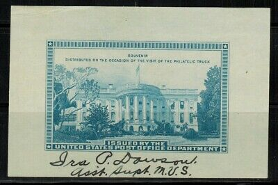 Usps 1939 Souvenir Occasion Of The Visit Of The Philatelic Truck Ng