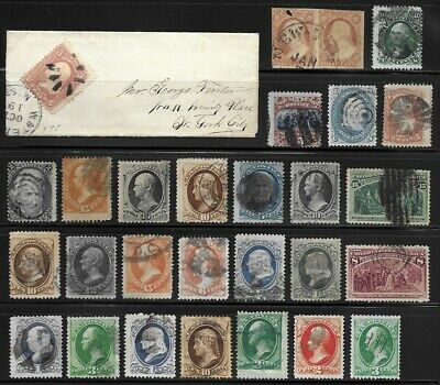 Collection of Early Issue US Stamps . . . . . . hcv