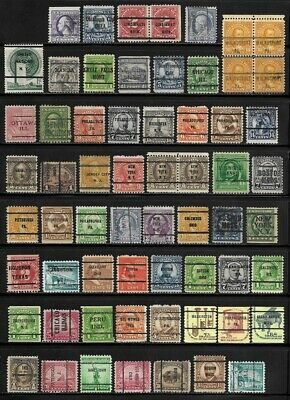 Lot of 100+ US Pre-Cancelled Stamps - - - - > All Pre-Cancels