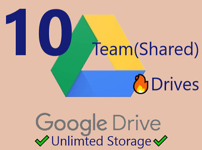 Unlimited Google Drive storage - 10 Team/Shared Drives🔥 for existing Account ✔️