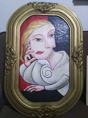Beautiful old oil painting on Canvas signed Picasso