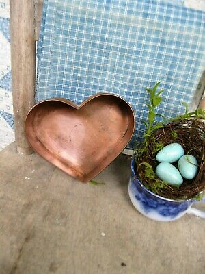 Vintage Copper Heart Mold w Rolled Edges Free Shipping