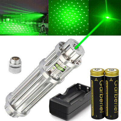Military 532nm Green Laser Pointer Pen 18650 Zoomable Visible Beam Light+Charger