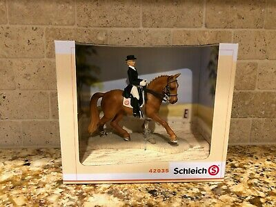 SCHLEICH Dressage Riding Set Horse With Rider 42040 Retired RARE New In Box