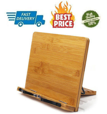 BamBoo Book Stand - Reading Rest holder Cookbook Cook Stand/Foldable Tablet PC