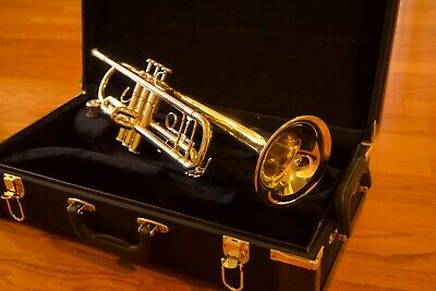 F Schmidt A180S Silver Trumpet With Hard Case