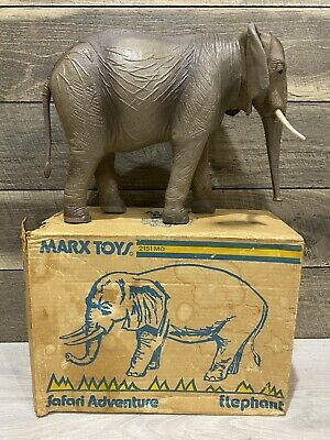 Vintage Marx Toys Safari Adventure Elephant #2151 Mo In Original Box