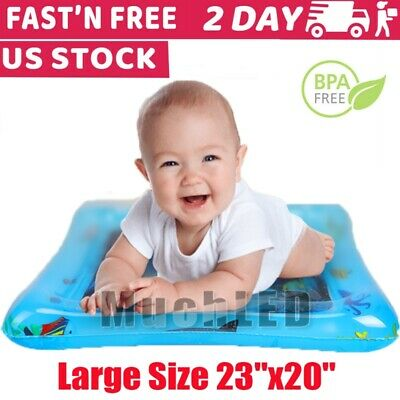 Inflatable Baby Water Mat Tummy Time Play Mat floor Activity Gym Crawling Kids