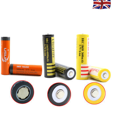 BRC 18650 Battery 3.7V Rechargeable Li-ion Lithium Cells Button Top Battery