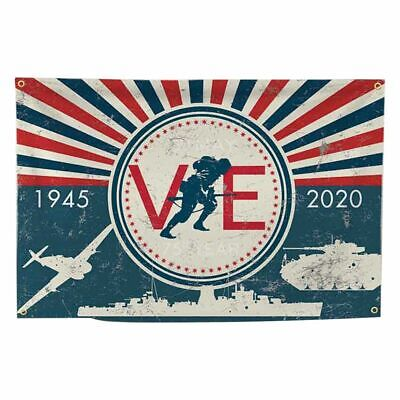 VE Day 75th Anniversary Flags, 5ft*3ft Bunting - V-E Day decorations 2020