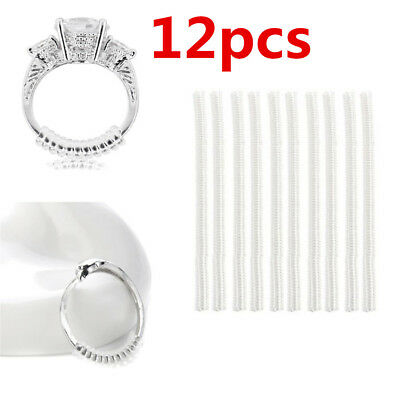 12 x Ring size reducers Spiral Invisible Snugs Guard RESIZER ADJUSTERS TOOLS @I