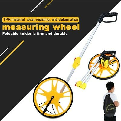 UK Digital Distance Measuring Wheel Stand Foldable in Bag Walking Surveyor Land